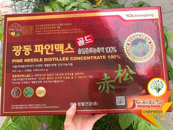 Viên tinh dầu thông đỏ Kwangdong 120 viên